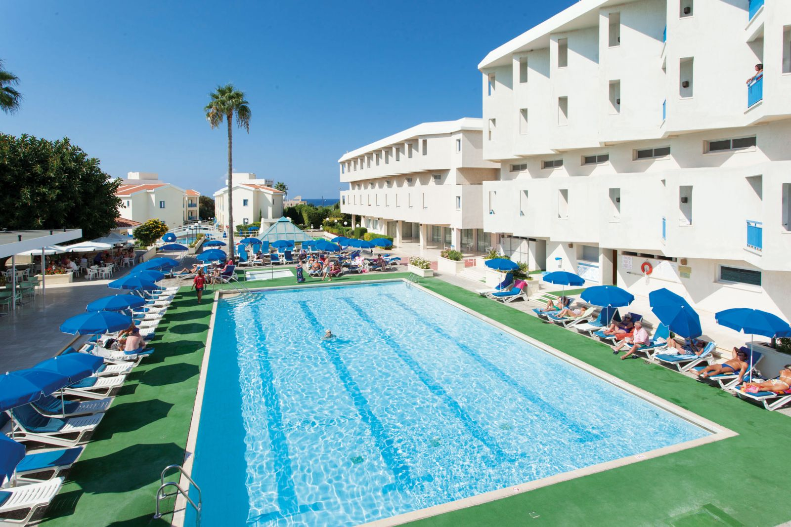 Kissos Hotel Paphos Has Indoor And Outdoor Swimming Pools And A Lagoon Pool